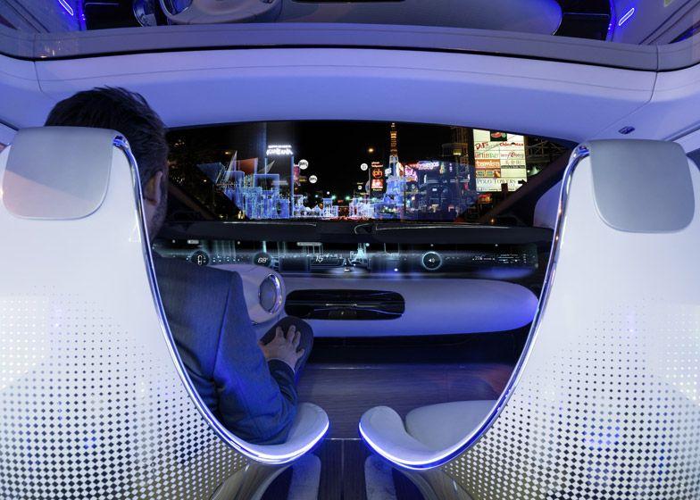 Mercedes Benz's unveils luxurious, driverless
