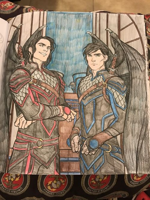 Cassian And Azriel Coloring Book Art A Court Of Mist And Fury