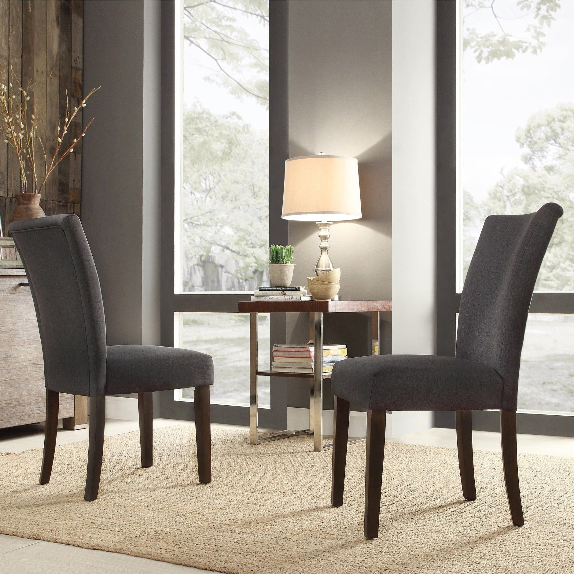 Catherine Parsons Dining Chair (Set of 2) by iNSPIRE Q Bold (Dark Gray