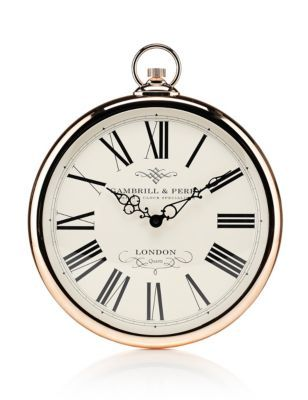 Marks And Spencer Wall Fob Clock  Duvar Saati  Pinterest  Wall Delectable Small Wall Clock For Bathroom Decorating Design