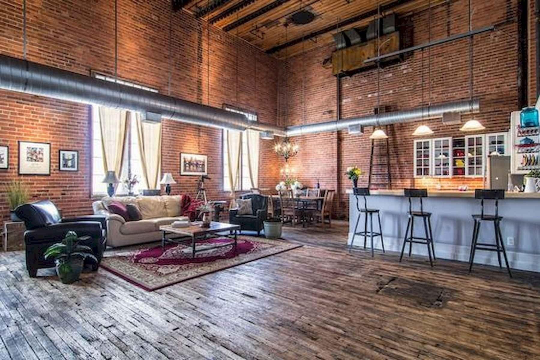 40 Rustic Studio Apartment Decor Ideas In 2020 Studio Apartment Decorating Brick Apartments Rustic Loft