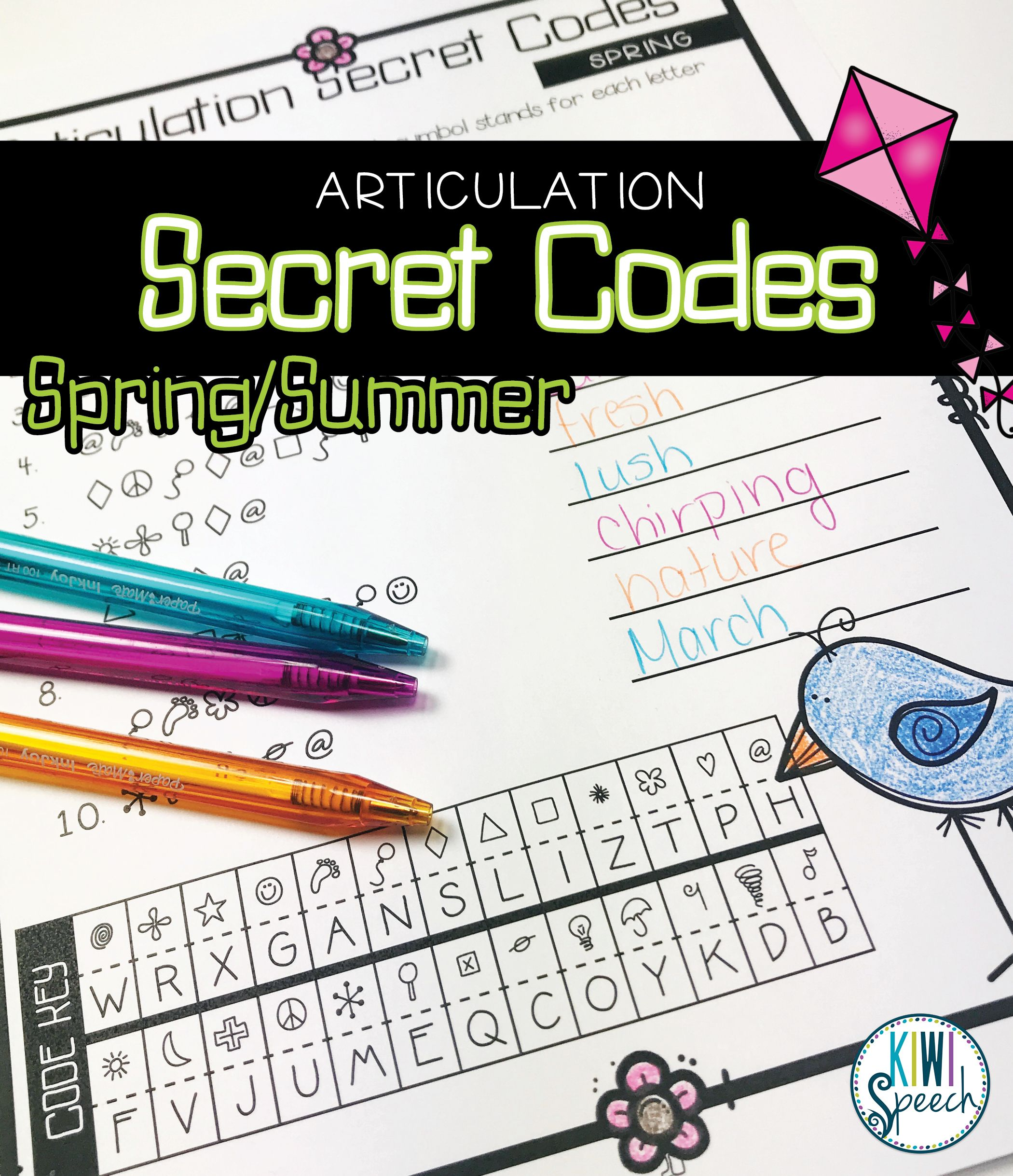 No Prep Seasonal Articulation Secret Codes For Speech