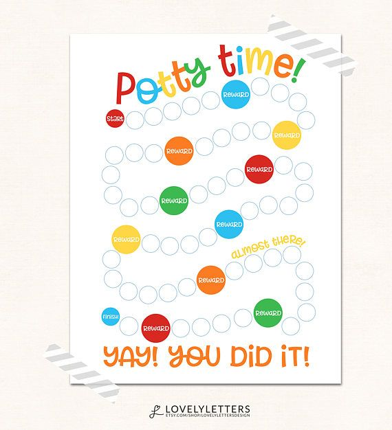Potty Chart Printable  Potty Training Print  Digital  Potty Time