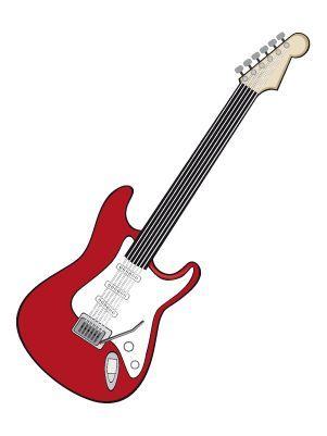 Colorea dibujos de Personas - Guitarra eléctrica