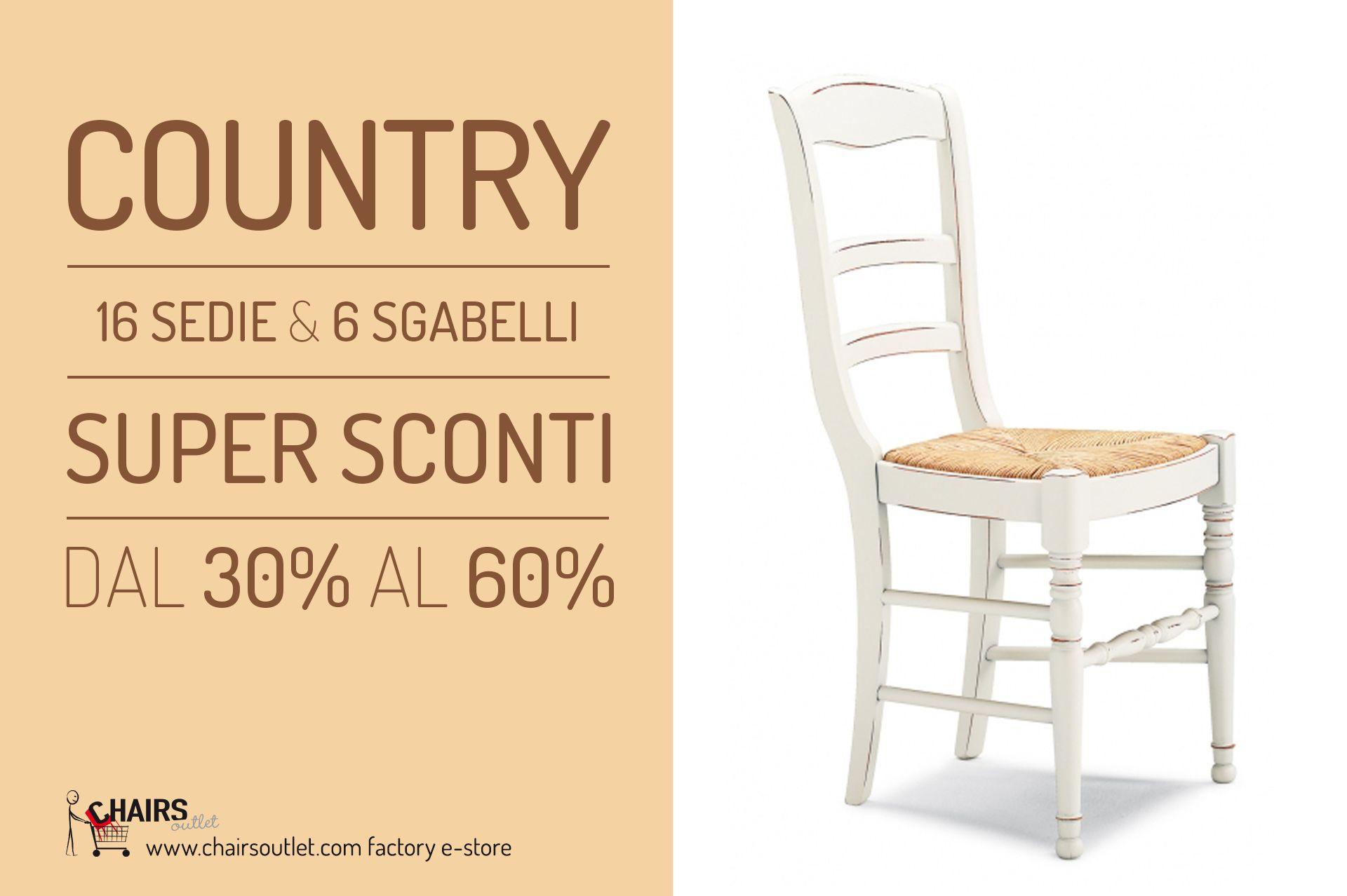 scegli CATERINA: sedia in legno, stile country, € 75,00 #sconto 40 ...