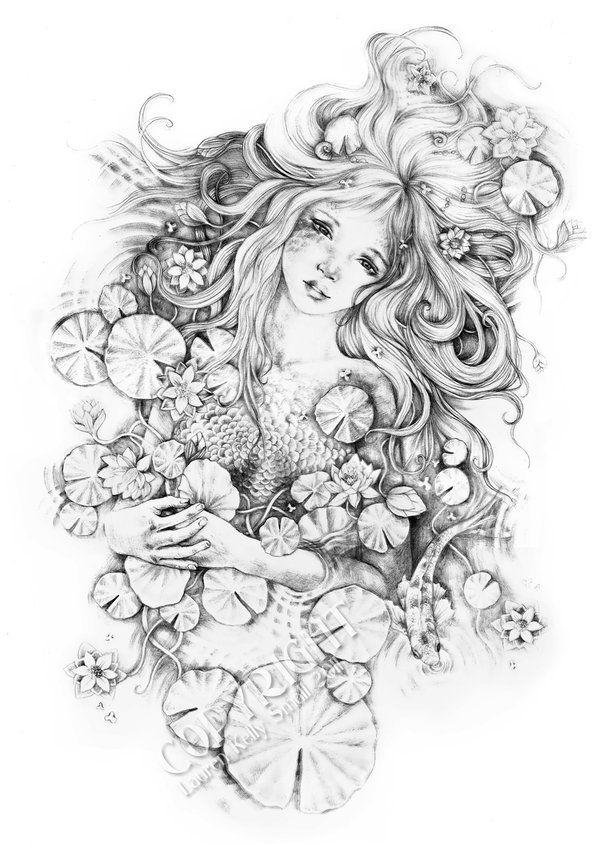 цветы фэнтези карандашом картинки домик