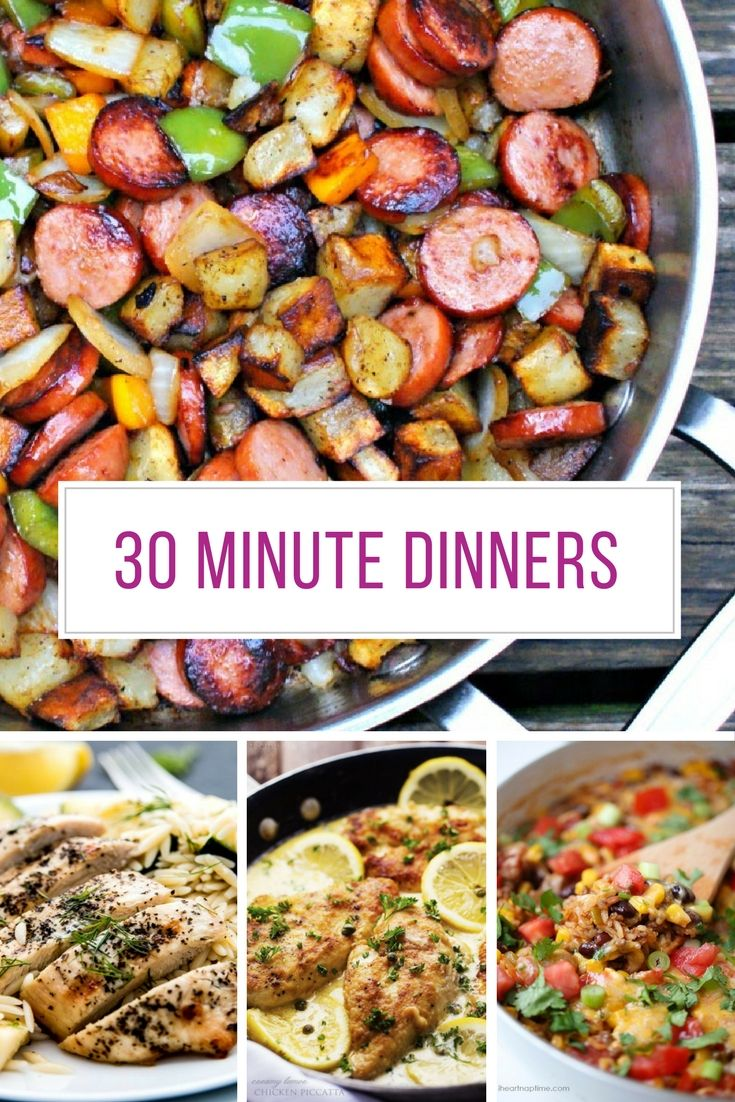 Best 30 Minute Dinner Recipes Easy Midweek Meals Easy Dinner Recipes Dinner Recipes