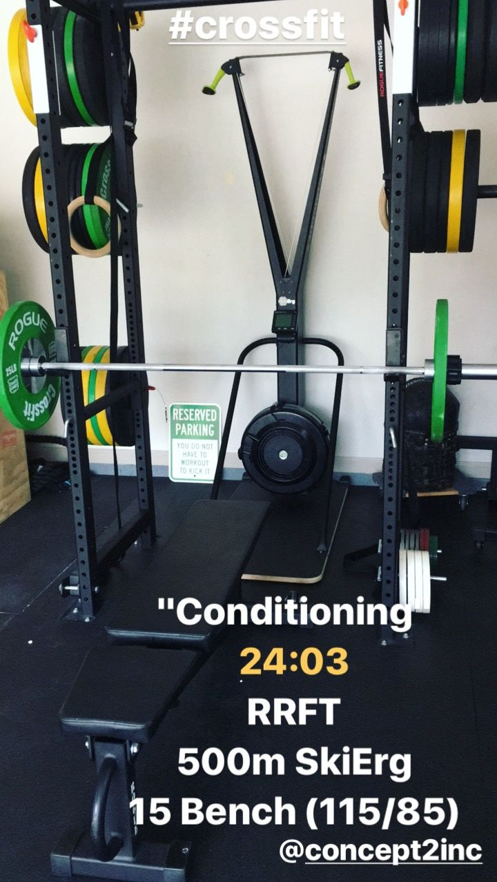 Workout concept 2 skierg conditioning wod workout treadmill