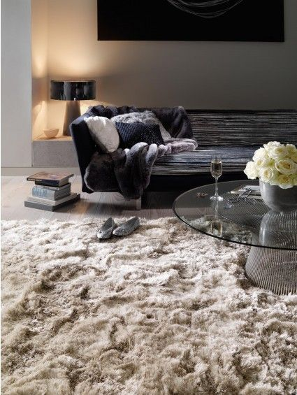Hochflor Teppich Bright Beige | There\'s no place like home | Rugs in ...
