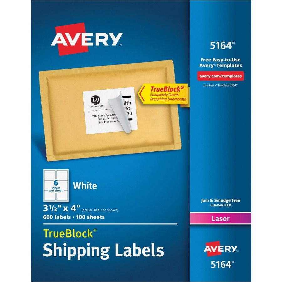 Avery® Shipping Labels With Trueblock Technology - Direct ...