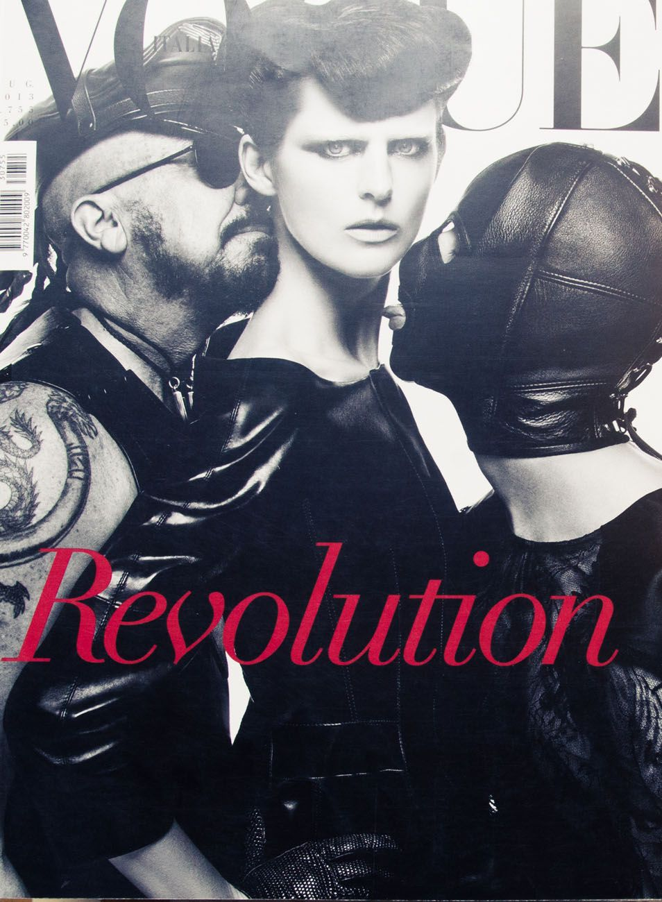 Inside Architect Peter Marino's Art-Filled Home: Black and White Vogue Revolution Cover | coveteur.com