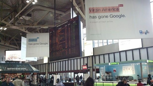Google display ads dominate Boston South Station