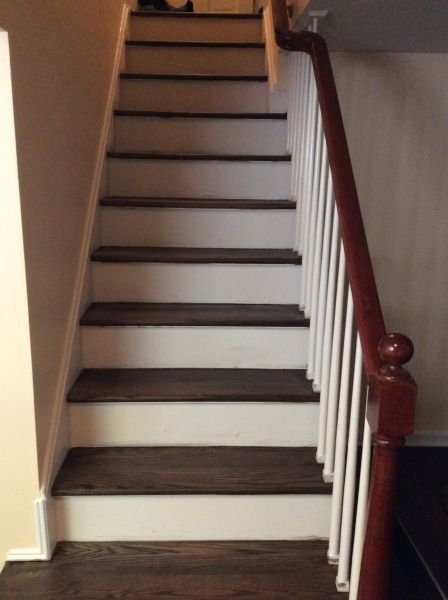 Best Refinishing Hardwood Stairs Before After Stair Remodel Ideas Hardwood Stairs Stair 400 x 300