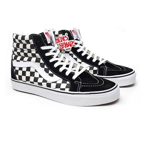 893ab26022 Vans SK8 HI Bones Brigade - Black White Checkers