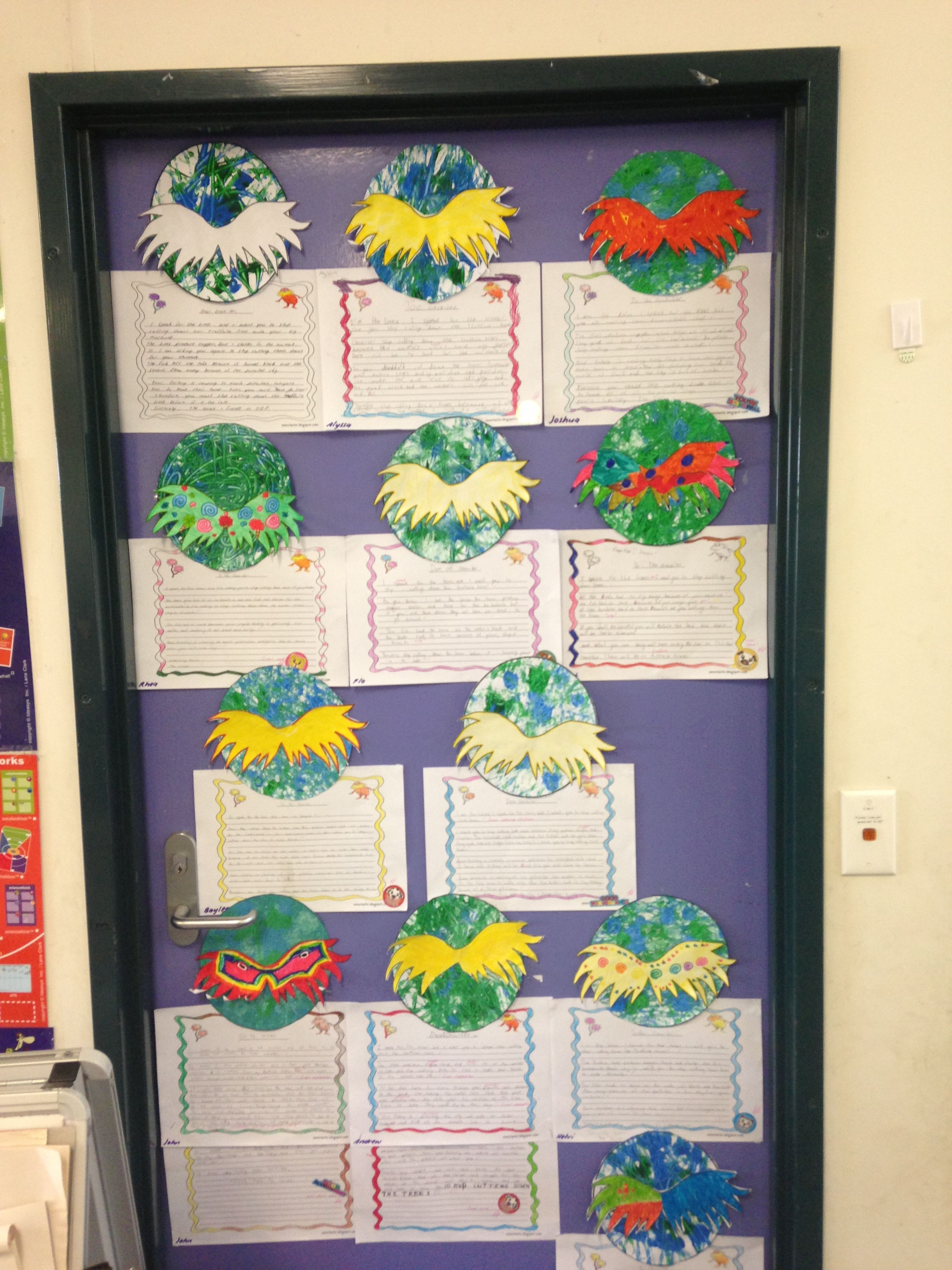 The Lorax persuasive letter writing and art activity