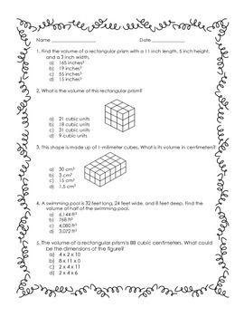 5th grade volume practice worksheet lisa 39 s learning shop fifth grade math teaching math. Black Bedroom Furniture Sets. Home Design Ideas