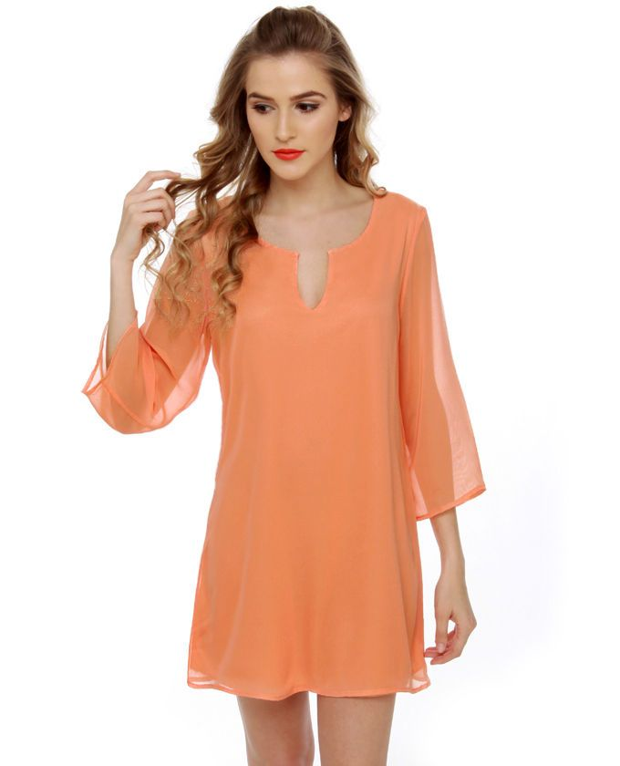 peach dress...with nude heels for the summer