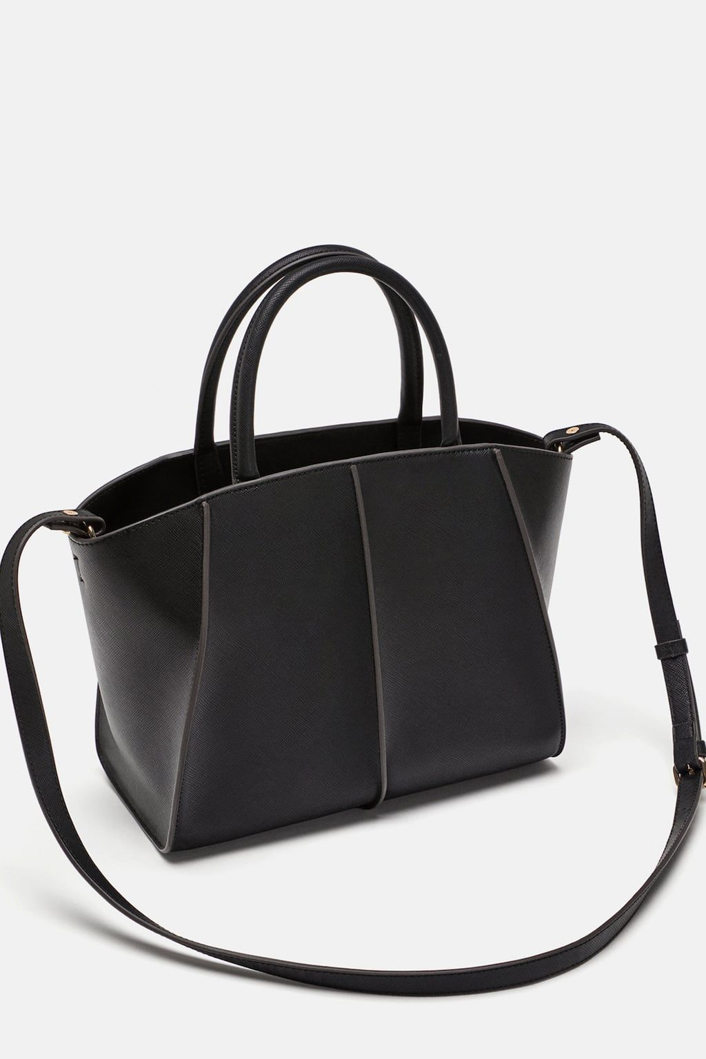 e324cb8a31e7 Image 3 of MEDIUM TOTE BAG WITH CONTRASTING DETAIL from Zara