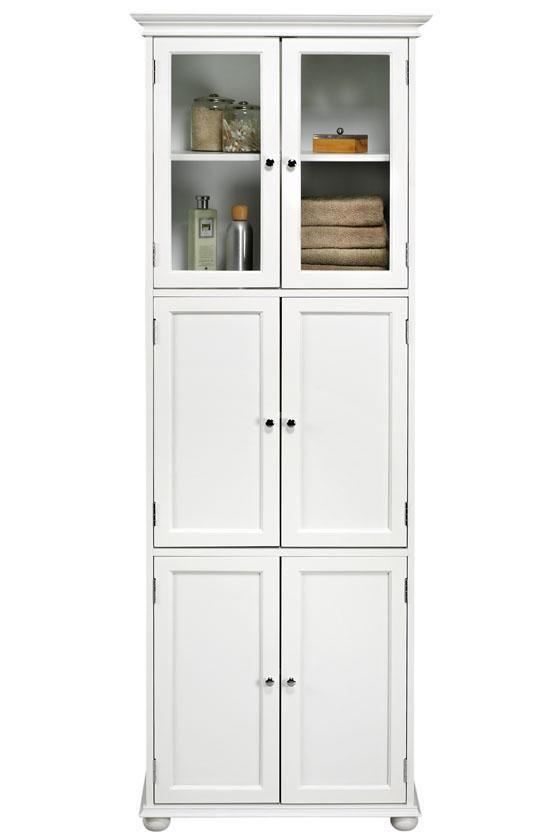 Tall White Bathroom Storage Cabinet Bathroom Storage Cabinets