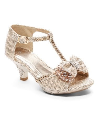 2d1cd86ef Loving this Gold Shimmer Bow Roxie Sandal on  zulily!  zulilyfinds ...