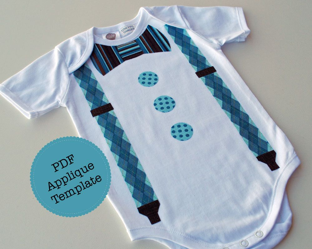 Bow Tie and Suspenders Applique Template. DIY, Make Your Own ...