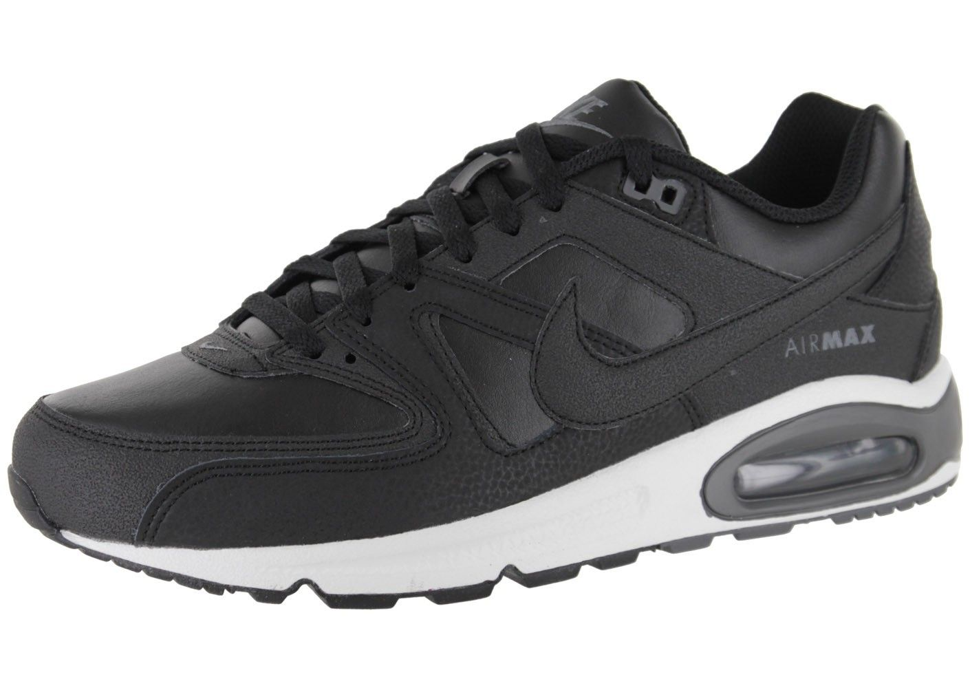 Heren Nike Air Max Command Leer Zwart Et Wit.Good quality!You are worthy to  wear it .