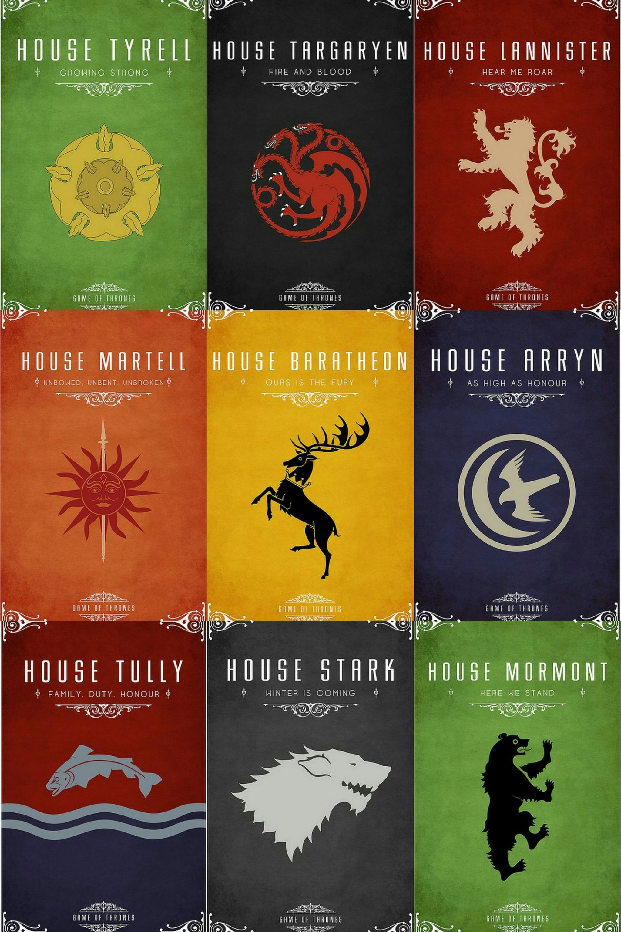 Game Of Thrones House Sigil Posters Series De Tv Series