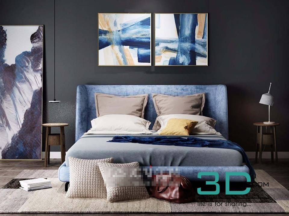 Bed room 3 Max File 3D Mili Download 3D Model Free