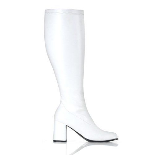 880a3ad4c2f Womens Knee High Boots White GOGO 3 Inch WIDE CALF Sexy Block Heel Knee Boot  Size  6 by FuntasmaTake for me to see Womens