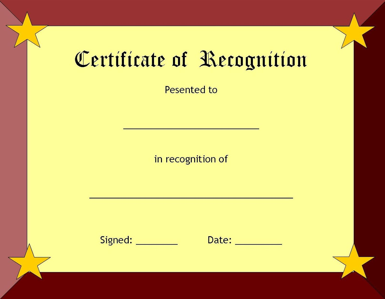 Certificate of recognition template prizegiving pinterest certificate of recognition template 1betcityfo Choice Image