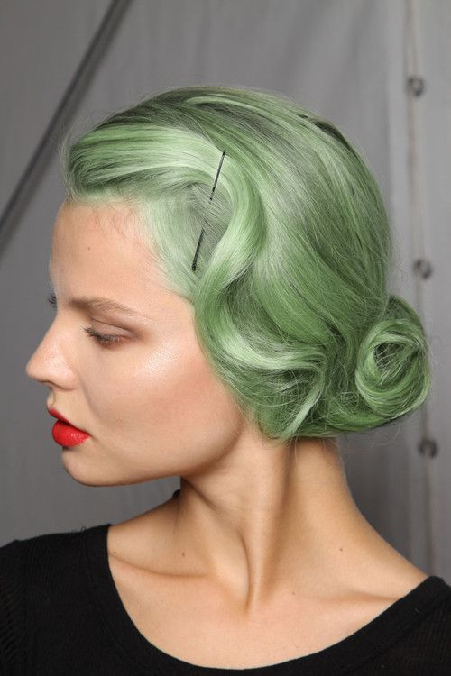 Pastel Green Hair Color Fekkai Coleur Pinterest Pastel Green
