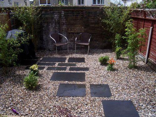 Easy Low Maintenance Modern Backyard Chelmsford Black