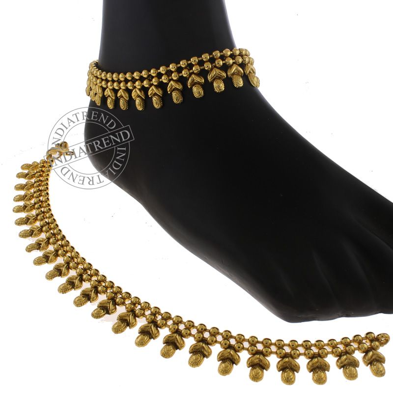 chain layered shopping online anklets pin geometric turquoise anklet