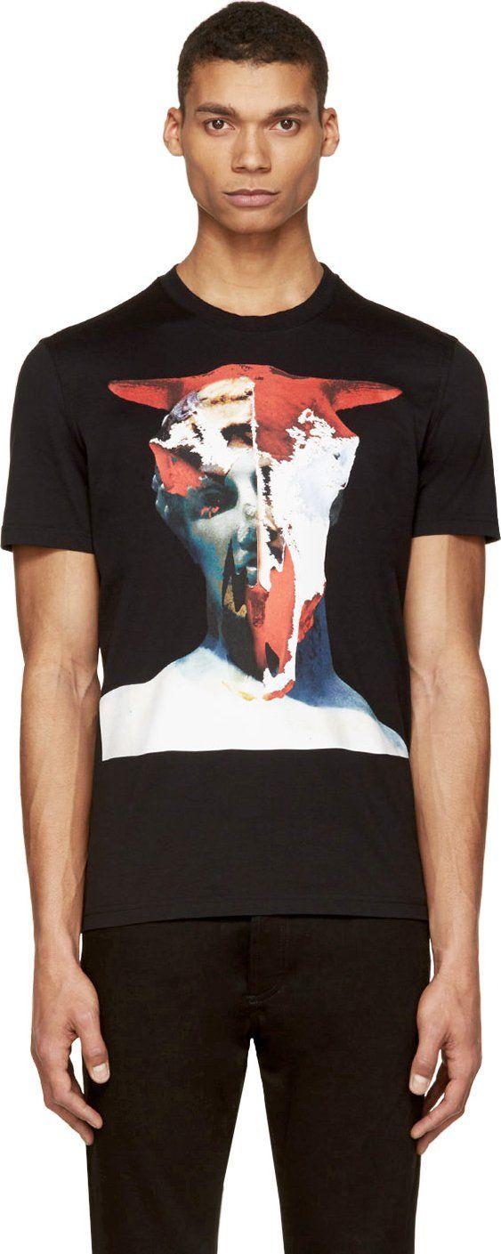 Givenchy Black Statue Mash-Up T-Shirt