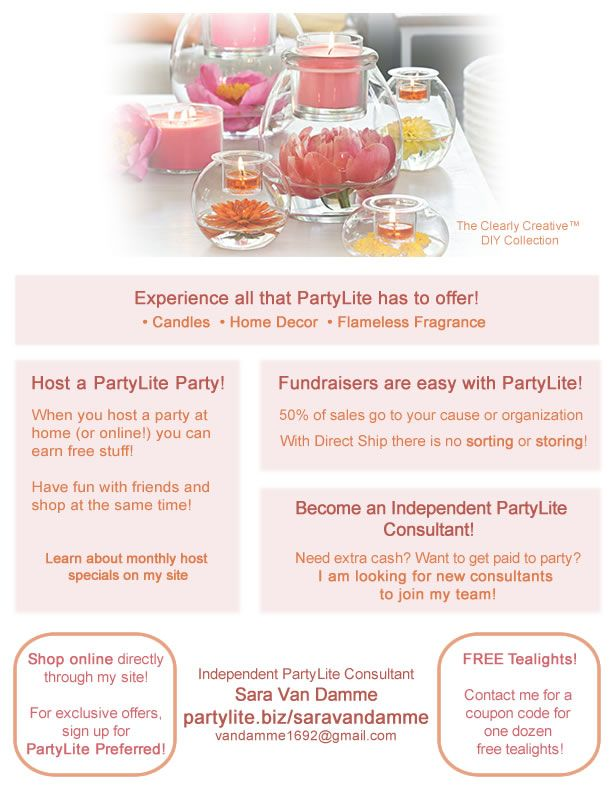 Partylite Independent Consultant Informational Flyer I Created For