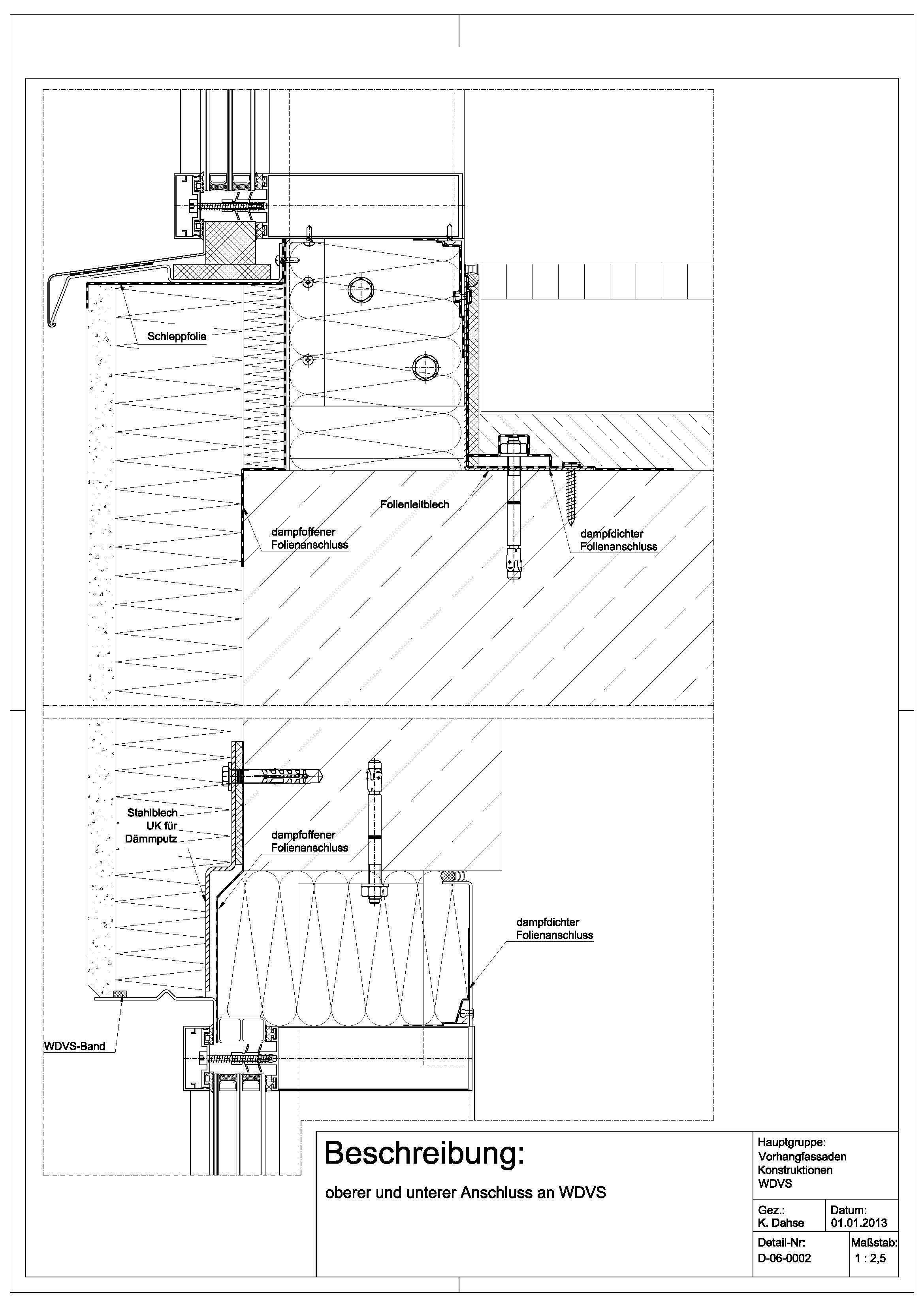 Tür detail anschluss  D-06-0002 unterer und oberer Anschluss an WDVS | details ...