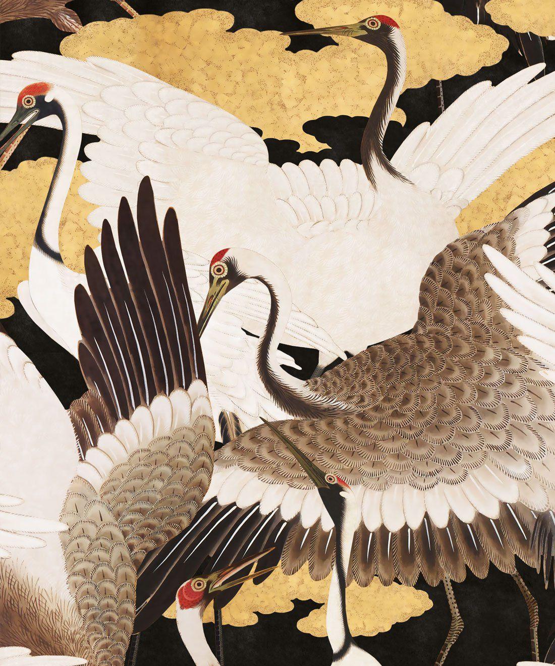 Cranes Wallpaper (Two Roll Set)