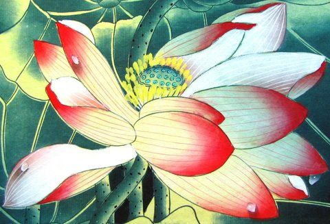 Feng shui lotus flower painting is the feng shui element of water feng shui lotus flower painting is the feng shui element of water will bring mightylinksfo Image collections
