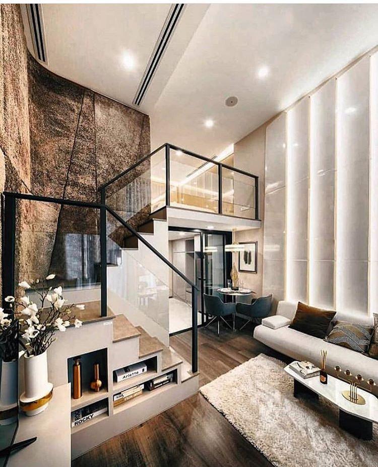 Luxury Stylish Apartment Trending Architecture Homedecor Luxuryhomes Livingroom Livingroomdecor Living Loft House Design Loft House Small House Design
