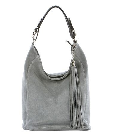 0e43a69764 Chloé Marcie Leather Hobo Bag. 123456789101112. Another great find on   zulily! Gray Tassel Leather Hobo  zulilyfinds