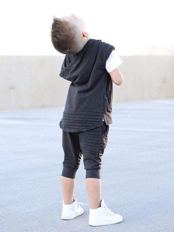 2ac1cdd61dd2 Charcoal Harem shorts   Hipster baby boy clothes   Trendy baby boy ...