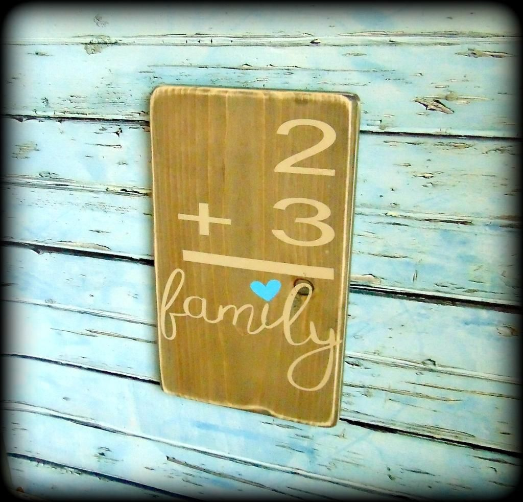 Handmade Wooden Gallery Wall Sign, Family Home Flash Card Sign ...