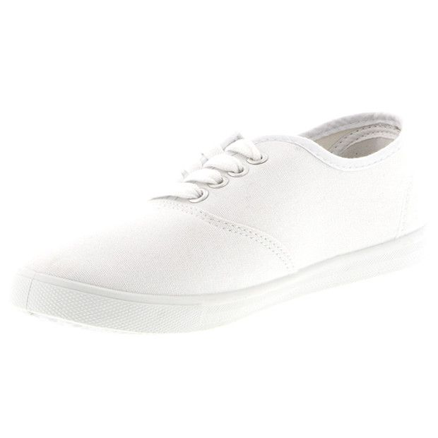 essentials Nora Lace Up Shoes - White