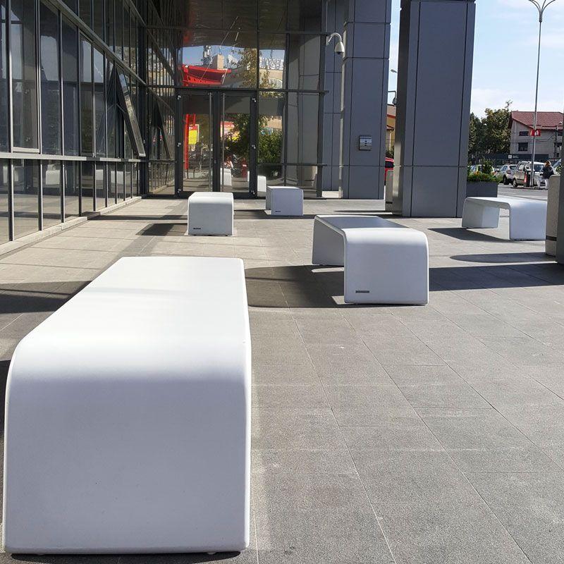 Design benches made of concrete UHPC madeinitaly