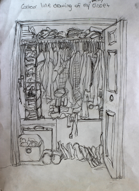 Contour Line Drawing of your closet Contour line drawing