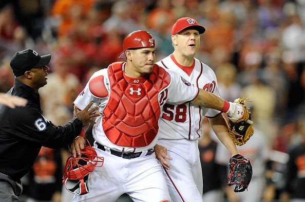 Papelbon Gets Three-Game Suspension For Throwing At Machado #IanDesmond