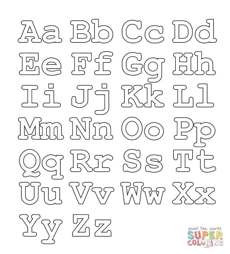 Full Alphabet Worksheet Capital And Small Letters Coloring Page Printable Alphabet Letters Letter Stencils Printables Alphabet Coloring Pages