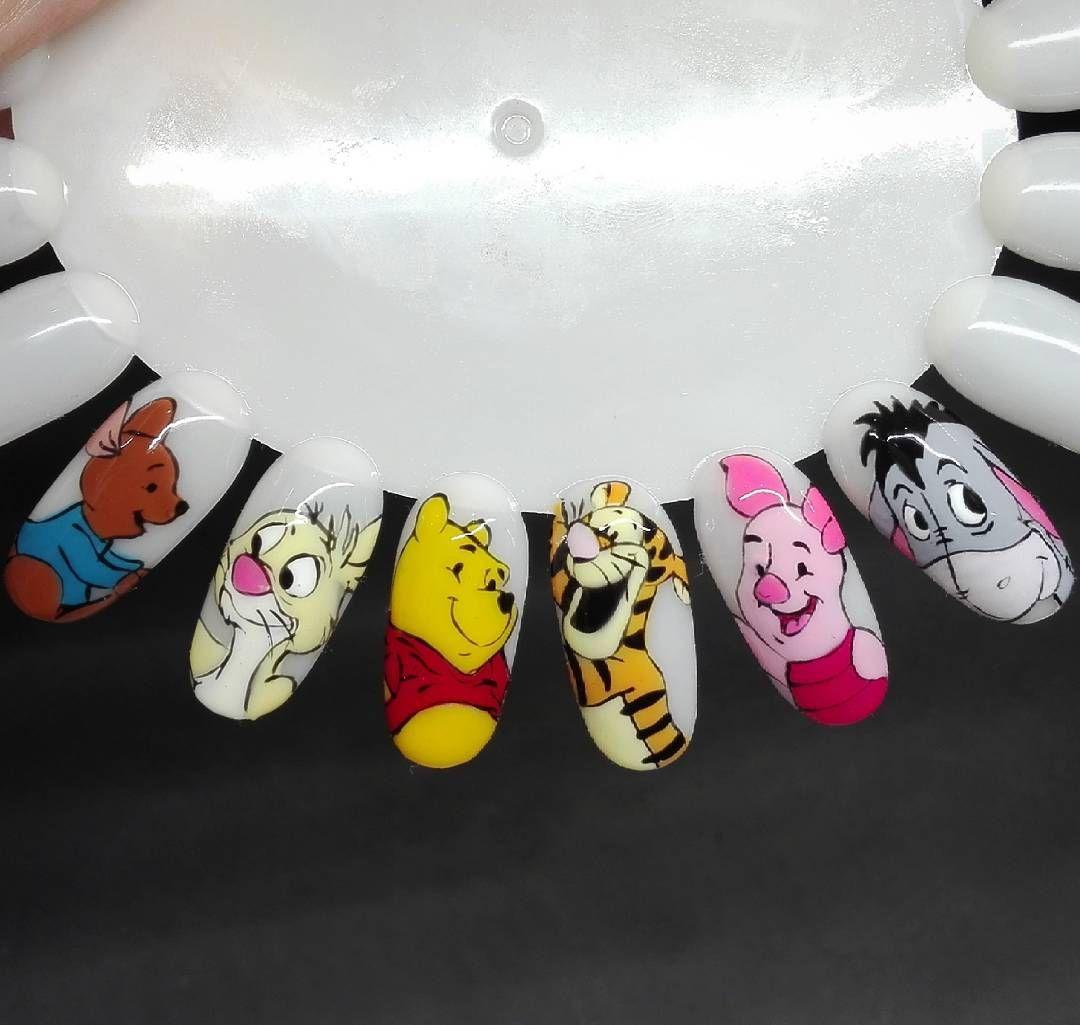 In progress #nails #art #painting #cartoon #disney #winniethepooh ...