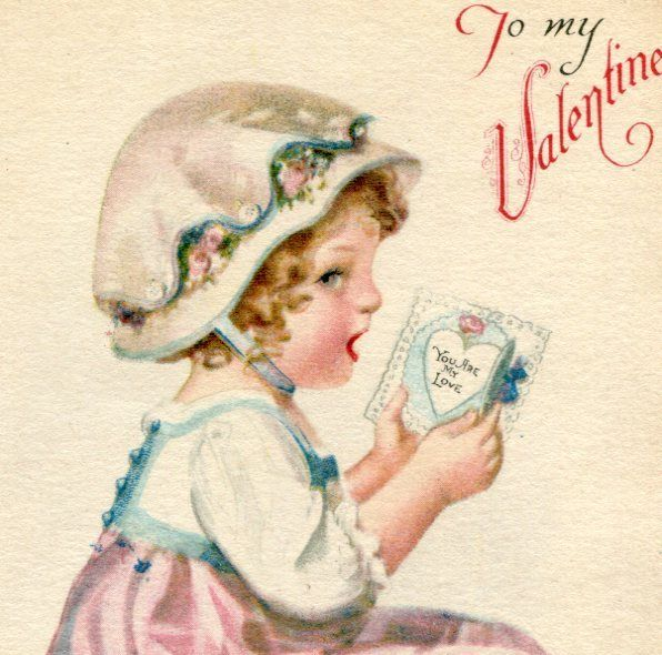 Valentine Lass Postcard from rustyrecycle on Ruby Lane