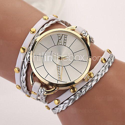 ea5867040d08 Mujer Reloj de Moda Reloj Pulsera Punk Cuarzo PU Banda Bohemio Elegantes  Múltiples Colores 2017 - €5.87